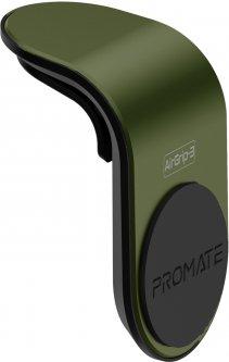 Магнитный автодержатель для телефона Promate AirGrip-3 Green (airgrip-3.green)