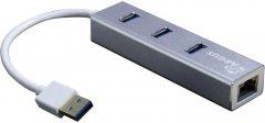 Адаптер Argus USB 2.0/3.0 - RJ45 LAN c USB-хабом (IT-310-S)