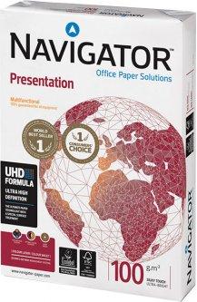 Бумага офисная Navigator Presentation A4 100 г/м2 класс A 500 листов Белая (5602024530232)