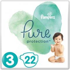 Подгузники Pampers Pure Protection Размер 3 Midi 6-10 кг 22 шт (8001841023250)