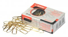 Набор скрепок Norma пятиугольные 28 мм 10х100 шт Золотистые (4736/18591662473602)