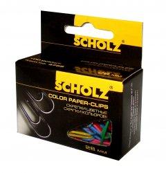 Набор скрепок Scholz закругленные 28 мм 10х100 шт Цветные (4755/18591662475507)