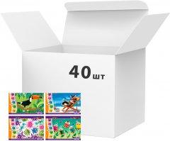 Альбомы для рисования ZiBi KIDS Smart 8 листов 100 г/м2 на скобе ассорти 40шт (ZB.1413)