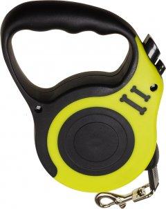 Поводок-рулетка SJ Retractable Dog Leash - 188 см 5 м Желтый (2000100051016)