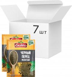 Упаковка перца Galeo Черного молотого 15 г х 7 шт (5900084267199)