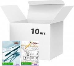 Набор папок для черчения ZiBi A4 8 листов 160 г/м2 10 шт Ассорти (ZB.1400)