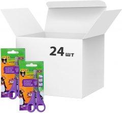 Упаковка Ножницы детские ZiBi 13.2 см с линейкой 24 шт Фиолетовый (ZB.5001-07)