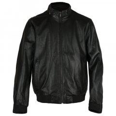 Чоловіча шкіряна куртка з перфорацією Bugatti 50 Чорний 5931-611 999