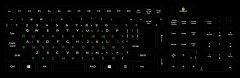Наклейка на клавиатуру XoKo 109 клавиш Украинский / Английский / Русский (XK-KB-STCK-BG)