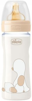 Бутылочка для кормления пластиковая Chicco Original Touch с латексной соской 2м+ 250 мл Бежевая (27624.30)