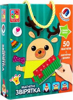 Магнитная игра Vladi Toys Зверушки (укр) (VT3702-16) (4820195057766)