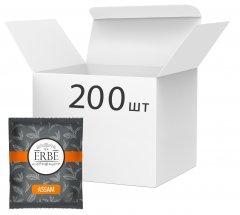 Упаковка черного чая Erbe Assam в пакетиках 200 шт х 1.5 г (4820097819745)