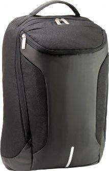 """Рюкзак деловой Optima 19.5"""" Techno унисекс 0.7 кг 26-35 л Черный с выделенными элементами (O96905-01)"""