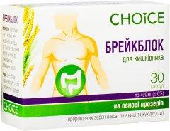 Натуральная добавка Choice Брейблок для нормализации функций кишечника 400 мг 30 капсул (99100005101)