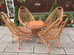 Крісло для відпочинку Ракушка Лоза Карпат з натуральної лози