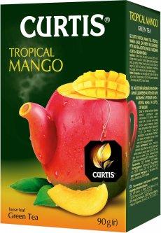 Чай зеленый байховый со вкусом манго Curtis Tropical Mango 90 г (4823063705349)