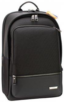 Рюкзак деловой Optima мужской 1.45 кг 43х28.5х18 см 16-25 л Черный (61-02111)