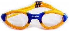 Очки для плавания Sprint Aquatics Sprint Soft Frame Silicone Antifog Goggles Желто-синие (SA/218/CL-YL-00)