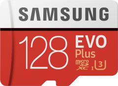 Samsung EVO Plus microSDXC 128GB UHS-I Class 10 + SD адаптер (MB-MC128HA/RU)