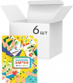 Упаковка картона цветного Аркуш А4 14 листов 10 цветов 200 г/м² 6 шт (1CC103)