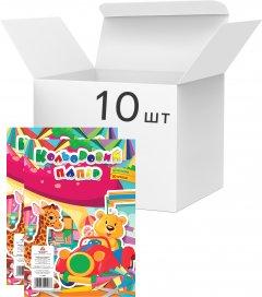 Упаковка цветной бумаги Аркуш А4 20 листов 10 цветов 45 г/м² 10 шт (1В870)