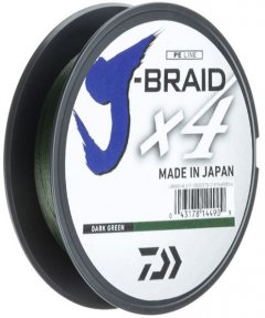Шнур Daiwa J-Braid X4E 0.25 мм - 135 м Dark Green (12741-025)