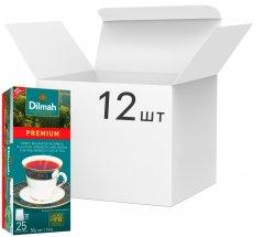Упаковка чая Dilmah черного Премиум 12 пачек по 25 пакетиков (49312631142370)