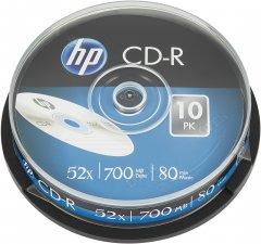 HP CD-R 700 MB 52x 10 шт (69308)