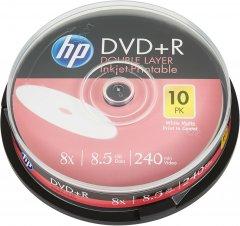 HP DVD+R DL 8.5 GB 8X IJ Print 10 шт (69306)