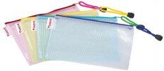 Набор папок - конвертов на молнии Аxent DL полупрозрачных разноцветных 12 шт (1408-00-А) (4250266207491)