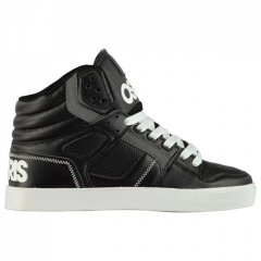 Кеди Osiris Osiris Clone Hi Top Trainers Black/White, 45 (290 мм) (10773612)