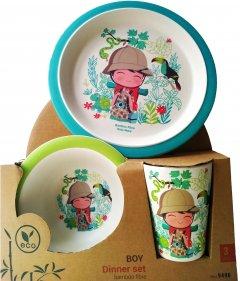 Набор детской посуды Fissman Мальчик 3 предмета (9496)