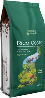 Кофе в зернах Arabica Specialty coffee Rico Costo Коста Рика 1 кг (4820157910122)