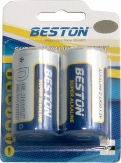 Батарейка Beston щелочная D (LR20) 2 шт (AAB1846)