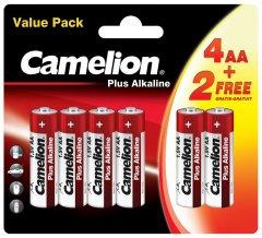 Батарейки Camelion Plus Alkaline 1x(4+2) шт (4+2LR6-BP)