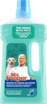 Моющая жидкость для полов и стен Mr. Proper Pet 1 л (8001841517698)