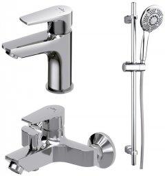 Набор смесителей для ванной комнаты 3-в-1 CERSANIT Vero B246 (S601-126)