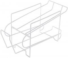 Полка Supretto двойная для хранения банок в холодильнике Белая 36х14х19 см (5739-0001)