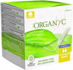 Тампоны органические компактные с аппликатором Corman Organyc Regular для умеренных выделений 16 шт (8016867007375)