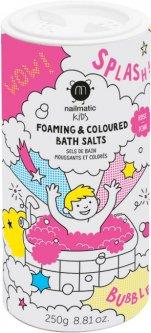 Цветная соль для ванны Nailmatic розовая 250 г (722PINKSALTS)