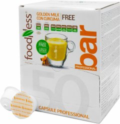 Кофейный капсульный напиток Foodness Золотое латте с куркумой 50 капсул Dolce Gusto по 14 г (8031848003818)