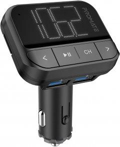 FM-трансмиттер Promate ezFM-2 AUX/SD/USB Black