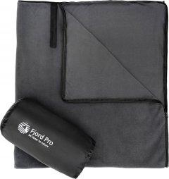 Флисовый спальный мешок-одеяло Fjord Pro 220 x 70 см Серый (fp-lb-gr1)