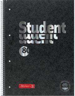 Колледж-блок Brunnen А4 Premium в клетку 80 листов Black (10-678 28 90)