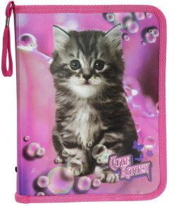Папка для тетрадей на молнии Class Cute Kitten 250 х 190 х 30 мм (5627C) (8591662562705)