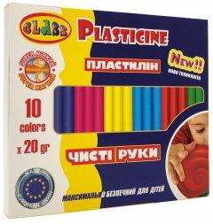 Пластилин Class Чистые руки ECO Maxi 10 цветов 200 г (7645С) (8591662764505)