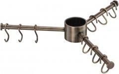 Вешалка Lemax тройная с крючками (9 шт.), античная бронза (STV360 BA)