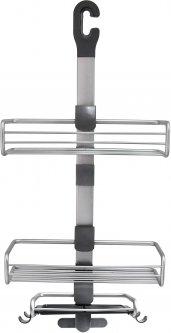 Полка для душевой кабины LEMAX EBA-3217 AL 3-секционная алюминиевая 319х131х725