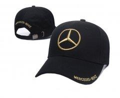 Кепка Jsstore Mercedes Черная с золотой вышивкой