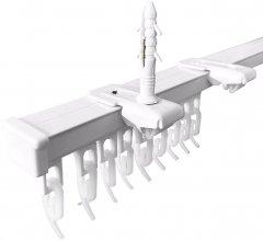 Карниз алюминиевый Алютерра Однорядный 200 см Белый (801060 200 см)